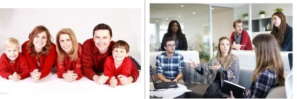 Familj och kollegor